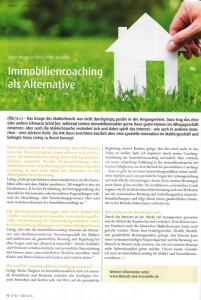 Artikel Bonnjour über Immobiliencoaching Mensch & Immobilie