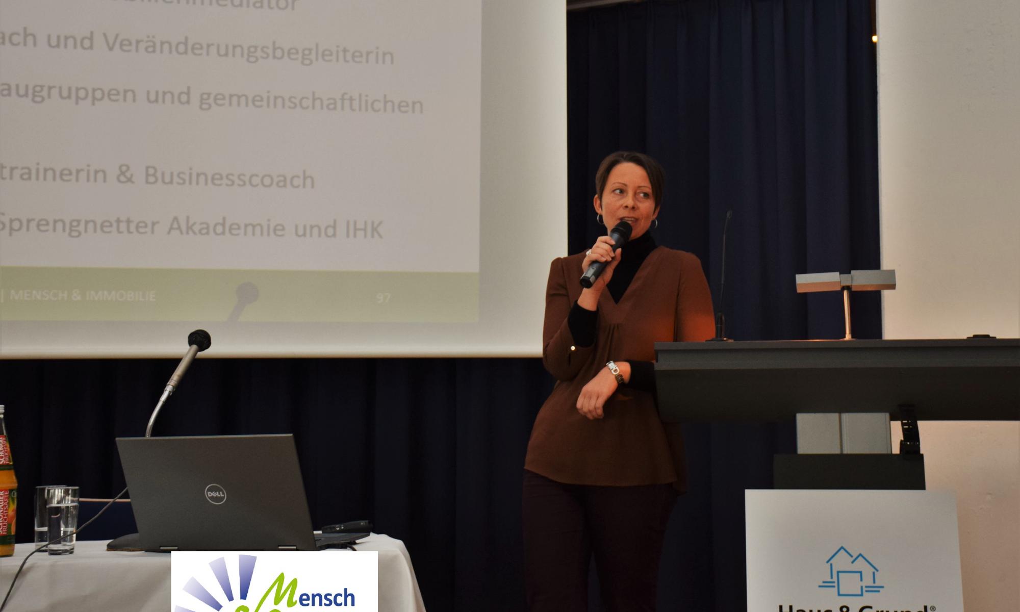 Vortrag über Immobiliencoaching, Haus & Grund Bonn, Mensch & Immobilie