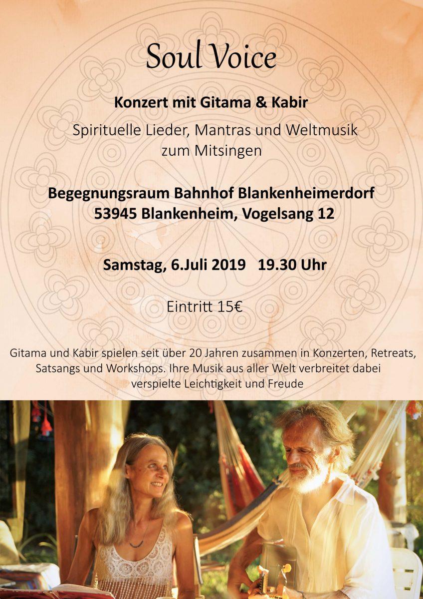 Gitama und Kabir-Konzert-Bahnhof Blankenheimerdorf