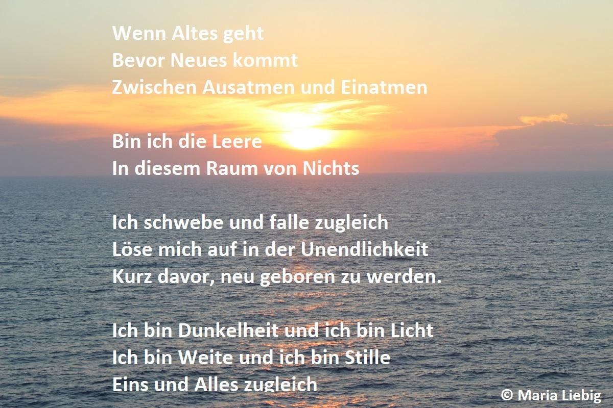 spirituelles Erwachen-Gedicht von Maria Liebig-Weite und Stille